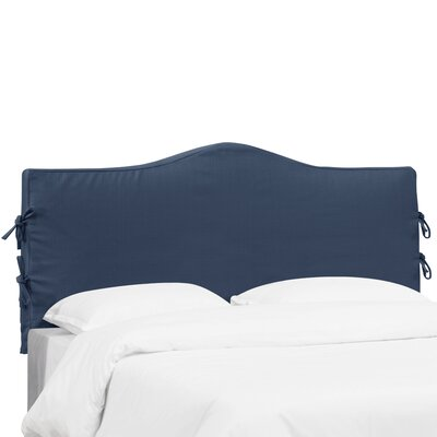 Polyester Headboard Slipcover Size: King, Upholstery: Midnight