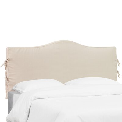 Polyester Headboard Slipcover Size: California King, Upholstery: Ivory