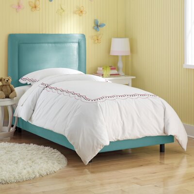 Border Panel Bed Size: Twin, Finish: Azure