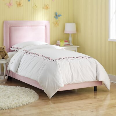 Border Panel Bed Size: Twin, Color: Light Pink
