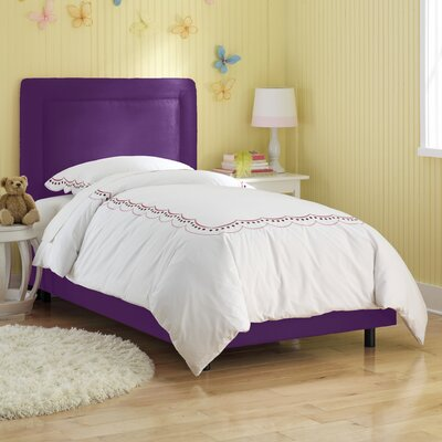 Border Panel Bed Size: Twin, Finish: Purple