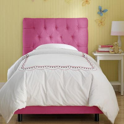 Tufted Panel Bed Size: Full, Color: Hot Pink