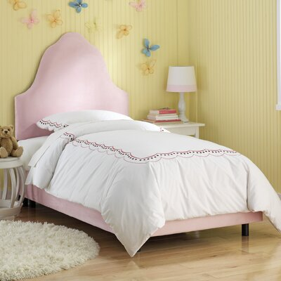 Image of High Arc Micro-Suede Upholstered Bed in Light Pink Size: Twin (SKY2241_5909672)
