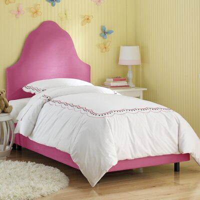 High Arc Panel Bed Size: Full, Finish: Hot Pink