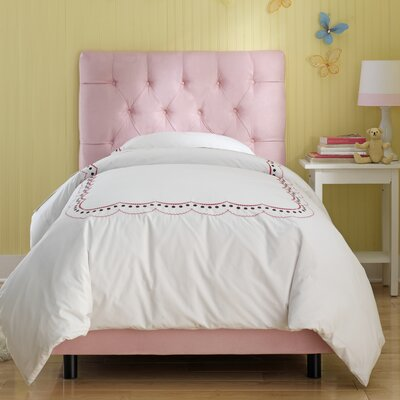 Tufted Panel Bed Size: Twin, Finish: Light Pink