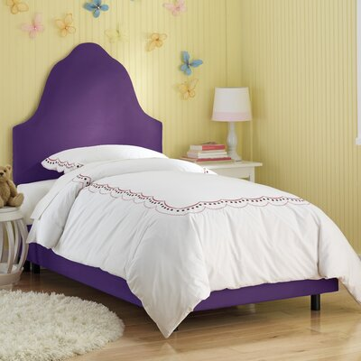 High Arc Panel Bed Size: Full, Finish: Purple