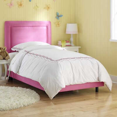 Border Panel Bed Size: Twin, Finish: Hot Pink