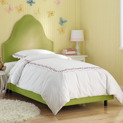 High Arc Panel Bed Size: Twin, Finish: Kiwi