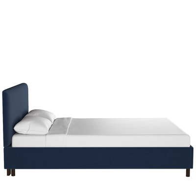 Bleecker Upholstered Platform Bed Size: Twin, Color: Linen Navy