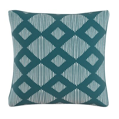 Felty Line Lattice Throw Pillow