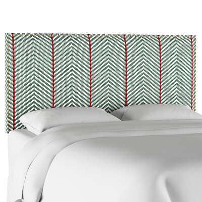 Modern Nail Button Border Upholstered Panel Headboard Size: Queen