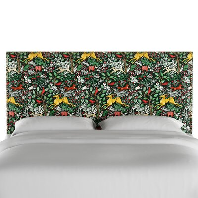 Nail Button Border Upholstered Wood Panel Headboard Size: California King