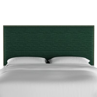 Gard Nail Button Border Upholstered Panel Headboard Size: Twin