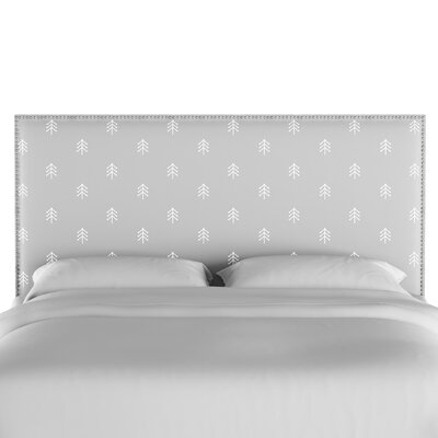 Forcade Nail Button Border Upholstered Panel Headboard Size: Twin