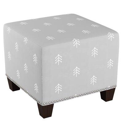 Lacie Nail Button Cube Ottoman