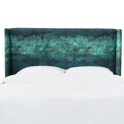 Staudt Upholstered Wingback Headboard Size: King