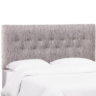 Owsley Button Upholstered Panel Headboard Size: Twin, Color: Bronson Smokey Lavender
