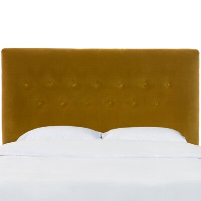 Owsley Button Upholstered Panel Headboard Size: Twin, Color: Dresden Marzipan