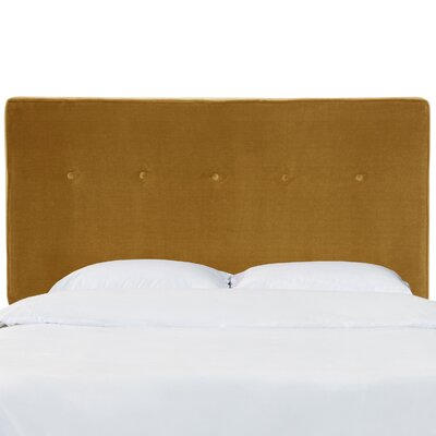 Paden Five Button Upholstered Panel Headboard Size: Full, Color: Dresden Marzipan