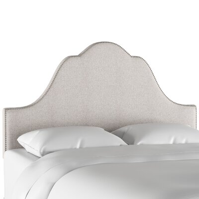 Vance Arch Nail Button Upholstered Panel Headboard Size: Queen