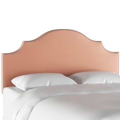 Jopling Nail Button Notched Upholstered Panel Headboard Size: Twin