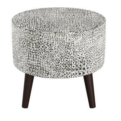 Pagel Round Ottoman with Splayed Leg