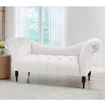 Edite Tufted Chaise Lounge Color: Snow