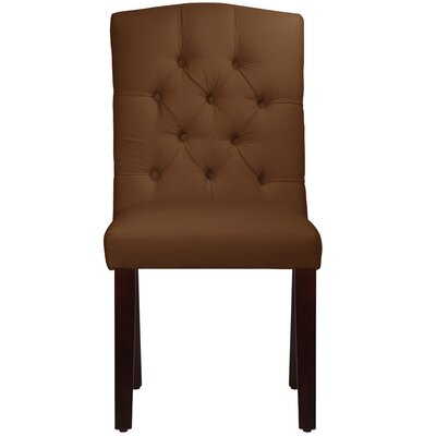 Michigamme Tufted Arched Upholstered Dining Chair Upholstery: Duck Chocolate