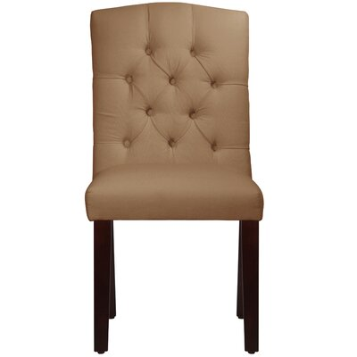 Michigamme Tufted Arched Upholstered Dining Chair Upholstery: Duck Khaki