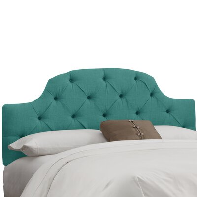 Tufted Upholstered Panel Headboard Size: King, Color: Linen Laguna