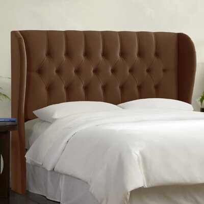 Tufted Upholstered  Wingback Headboard Size: Queen, Upholstery: Chocolate