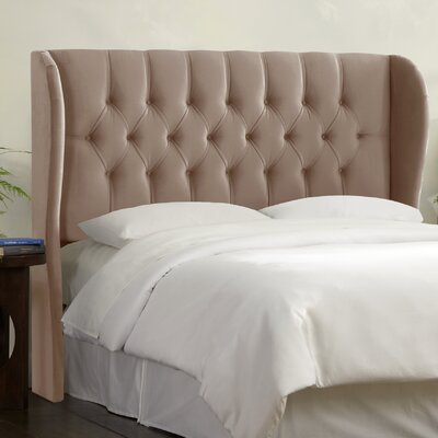 Tufted Upholstered  Wingback Headboard Size: Full, Upholstery: Cocoa
