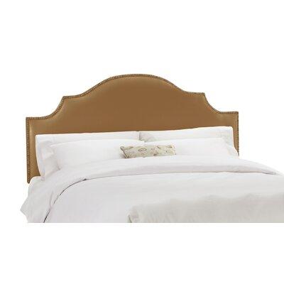 Skyline Furniture Nail Button Upholstered Headboard - Size: Twin, Finish: Shantung Khaki
