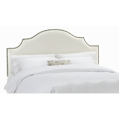 Arc Shantung Nail Button Panel Headboard Size: King