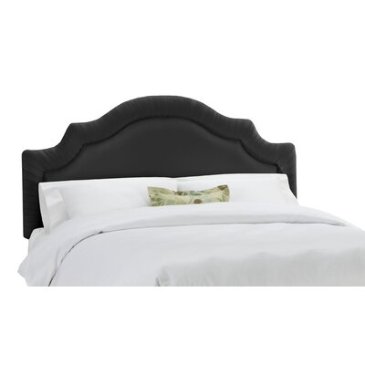 Arc Upholstered Panel Headboard Size: Twin, Color: Black