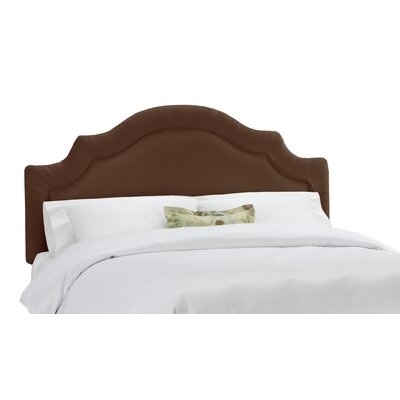 Arc Upholstered Panel Headboard Size: Queen, Color: Chocolate