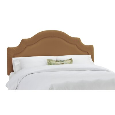 Arc Upholstered Panel Headboard Size: Full, Color: Khaki