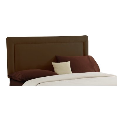 Border Upholstered Panel Headboard Size: Full, Color: Chocolate
