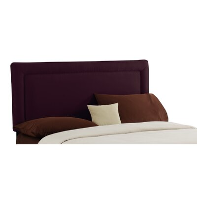 Skyline Furniture Premier Border Upholstered Headboard - Size: Twin, Finish: Purple