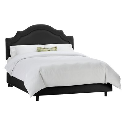 Tufted Arch Upholstered Panel Bed Size: Twin, Color: Black