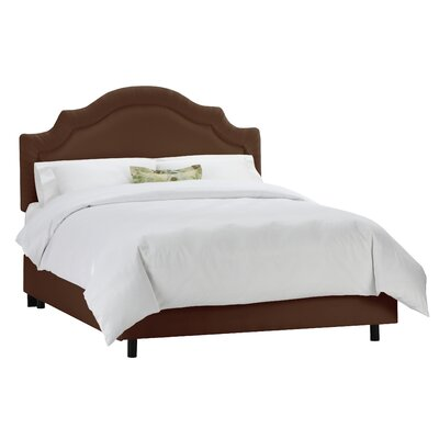 Tufted Arch Upholstered Panel Bed Size: Twin, Color: Chocolate