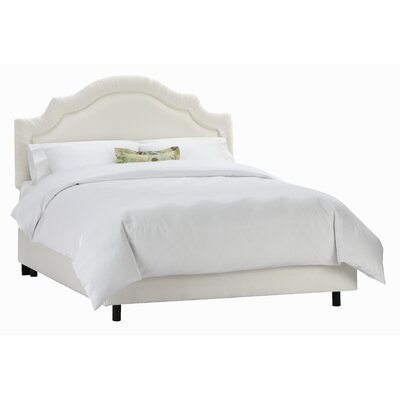 Tufted Arch Upholstered Panel Bed Size: Full, Color: Pearl
