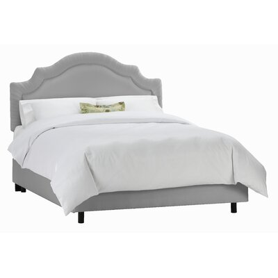 Tufted Arch Upholstered Panel Bed Size: King, Color: Silver