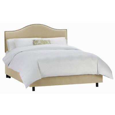Skyline Furniture Velvet Panel Bed - Size: Full, Finish: Buckwheat