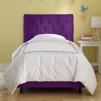 Tufted Panel Bed Size: Full, Finish: Purple