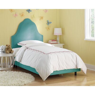 Image of High Arc Micro-Suede Upholstered Bed in Azure Size: Twin (SKY2245_5909680)