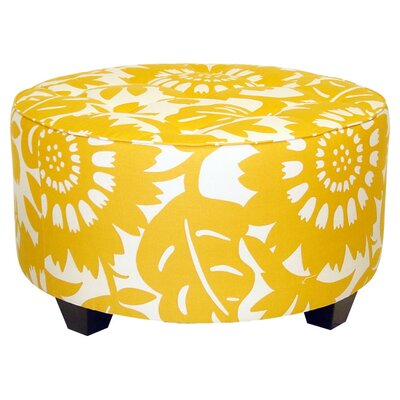 Round Tufted Cocktail Ottoman