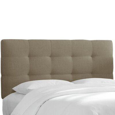 Claudia Upholstered Headboard in Linen Gray Size: King