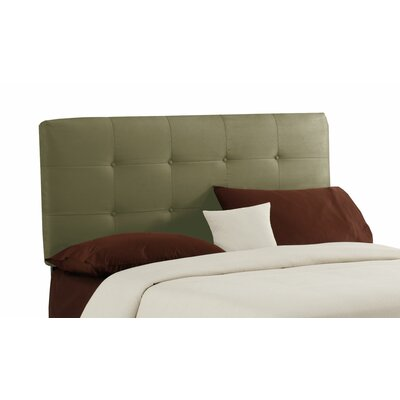 Double Button Tufted Upholstered Panel Headboard Size: Twin, Finish: Sage
