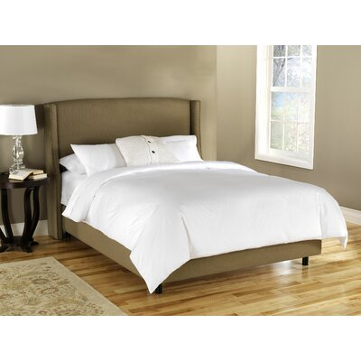 Wingback Chambers Upholstered Panel Bed Size: Queen, Color: Tan